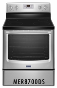 MAYTAG 6.2 CU. FT. CONVECTION RANGE STAINLESS STEEL MER8700DS
