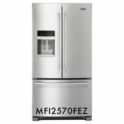 Maytag 24.7 Cu. Ft. French Door Refrigerator with Fingerprint Resistant Stainless Steel, ENERGY STAR MFI2570FEZ