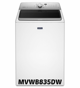 MAYTAG TOP LOAD WASHER Model #MVWB835DW WITH SANITIZE CYCLE - 5.3 CU. FT. ENERGY STAR