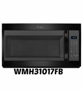 Over The Range Black Microwave By Whirlpool  1.7 cu ft Model #WMH31017FB