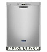 MAYTAG STAINLESS STEEL DISHWASHER WITH LARGE CAPACITY STAINLESS TUB MDB4949SDM 50 dBA  ENERGY STAR