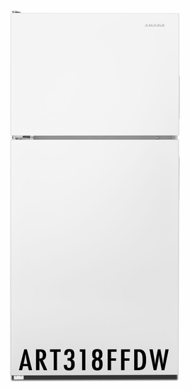 Amana 18 Cu. Ft. Refrigerator with Glass Shelves ART318FFDW White