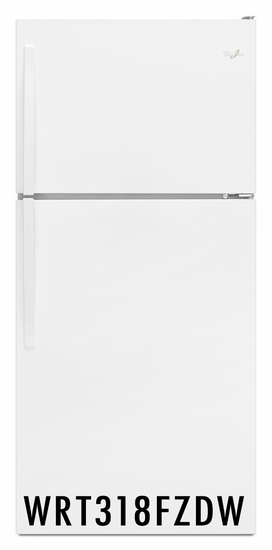 Whirlpool 18.2 cu. ft Capacity Refrigerator  with Electronic Temperature Control WRT318FZDW White