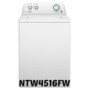 Amana 3.5 Cu Ft White Porcelain Tub, Deep Water Wash Option NTW4516FW Washer