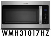 Whirlpool 1.7 cu. ft. Microwave Hood Combination with Electronic Touch Controls WMH31017HZ