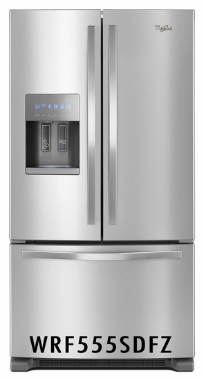 Whirlpool 24.7 cu. ft. French Door Refrigerator with Fingerprint-Resistant Stainless Steel WRF555SDFZ