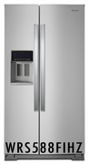 Whirlpool 28.49 CU. FT. FINGERPRINT RESISTANT STAINLESS STEEL SIDE-BY-SIDE REFRIGERATOR WRS588FIHZ