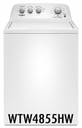 Whirlpool 3.8 cu. ft. Washer with 12 Wash Cycles, Dual Action Agitator WTW4855HW