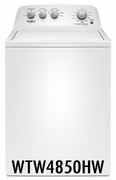 Whirlpool 3.9 cu. ft. Washer with 12 Wash Cycles, Smooth Impeller WTW4850HW