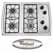 """Whirlpool 30"""" Gas Cooktop W3CG3014XS Stainless Steel"""