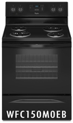 Whirlpool 4. 8 Cu Ft Coil Top Range Black WFC150M0EB