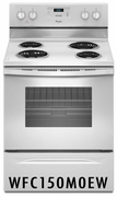 Whirlpool 4. 8 Cu Ft Coil Top Range White WFC150M0EW