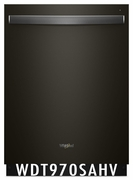 Whirlpool 47 dBA Black Stainless Steel Dishwasher with Sani Rinse and Third Rack WDT970SAHV