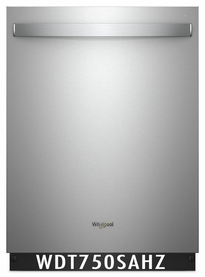 Whirlpool 47 dBA Dishwasher Stainless Steel Inside & Out, Sensor Cycle, High-Temperature Wash Option WDT750SAHZ