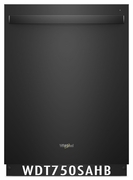 Whirlpool 47 dBA Dishwasher Stainless Steel Tub, Sensor Cycle, High-Temperature Wash Option WDT750SAHB