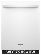 Whirlpool 47 dBA Dishwasher Stainless Steel Tub, Sensor Cycle, High-Temperature Wash Option WDT750SAHW