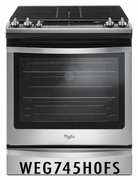 Whirlpool 5.8 cu. ft. Slide-In Gas Range with 5 Sealed Burners, and True Convection Cooking - Stainless Steel WEG745H0FS