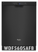 Whirlpool 50 dBA Dishwasher with Adaptive Wash Technology WDF560SAFB Black ENERGY STAR