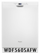 Whirlpool 50 dBA Dishwasher with Adaptive Wash Technology WDF560SAFW White ENERGY STAR
