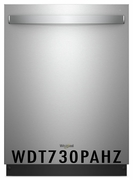 Whirlpool 51 dBA Dishwasher with Fan Dry, 5 Wash Cycles, 15 Place Settings, Soil Sensor, Heated Dry Option and Fingerprint Resistant Stainless Steel WDT730PAHZ