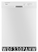Whirlpool 55 dBA Dishwasher with 3 Wash Cycles, Energy Star Certified, Star K Certified, 1-Hour Wash Cycle, Heated Dry Option in White WDF330PAHW