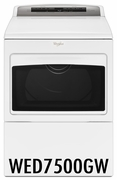 Whirlpool 7.4 Cu. Ft. Large Capacity Electric Dryer with AccuDry and Sanitize Cycle WED7500GW