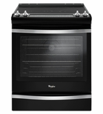 Whirlpool Black Slide-In Electric Range model #WEE745H0FE with True Convection 6.4 cu ft.