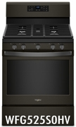 Whirlpool Black Stainless Steel 5.0 Cu. Ft. Gas Range with Center Oval Burner WFG525S0HV