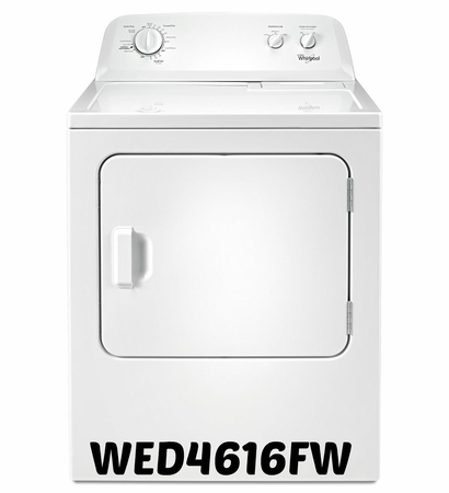 Whirlpool Dryer 7.0 cubic feet  Dryer with the Wrinkle Shield WED4616FW