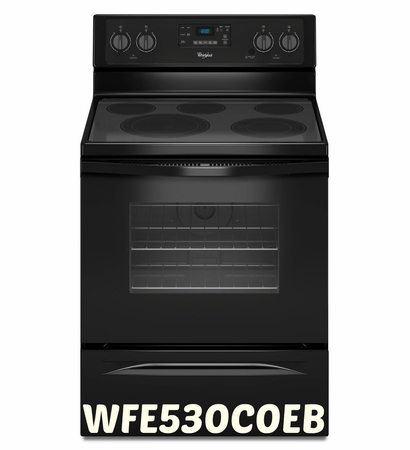 Whirlpool 5.3 Cu. Ft. Convection Range with High-Heat Self-Cleaning System WFE530C0EB