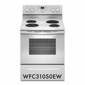 Whirlpool 4.8 Cu. Ft. Freestanding Electric White Range WFC310S0EW with AccuBake System