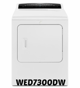 Whirlpool High-Efficiency Electric Dryer Steam Dryer WED7300DW 7.0 cu. ft. Cabrio