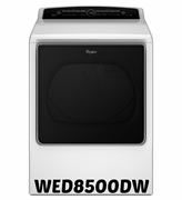 Whirlpool Cabrio 8.8 cu. ft.High-Efficiency Electric Steam Dryer WED8500DW