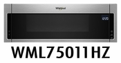 Whirlpool Profile 1.1 cu. ft. Over the Range Low Profile Microwave Hood Combination with Tap-to-Open Door and 400 CFM Venting System WML75011HZ  Fingerprint Resistant Stainless Steel