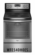 Whirlpool 6.4 Cu. Ft. Convection Stainless Steel Range with AquaLift Self-Cleaning Technology WFE540H0ES