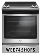 Whirlpool 6.4 cu ft. Slide-In Range with True Convection WEE745H0FS Stainless Steel