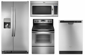 Whirlpool Stainless Steel Appliance Package  Refrigerator WRS325FDAM , Range WFE515S0ES , Dishwasher WDF520PADM , Microwave WMH31017FS