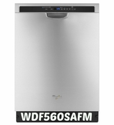 Whirlpool Stainless Steel Dishwasher with Adaptive Wash Technology Model #WDF560SAFM ENERGY STAR