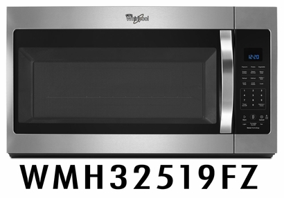 Whirlpool 1.9 Cu. Ft. Over the Range Steam Microwave With Sensor Cooking & Fingerprint Resistant Stainless Steel WMH32519FZ