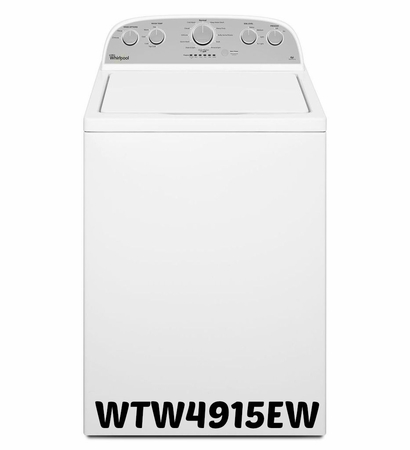 Whirlpool Top Load Washer WTW4915EW 3.7 cu. ft. High-Efficiency Top Load Washer with Quick Wash Cycle