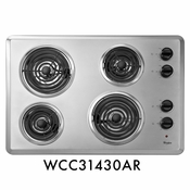 "Whirlpool WCC31430AR 30"" Coil Electric Cooktop With 4 Coil Heating Elements"