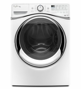 Whirlpool White Front Load Washer Duet Steam Front Load Washer with Load & Go System 4.5 cu. ft. WFW97HEDW