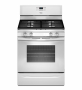Whirlpool White Gas Range WFG515S0EW Freestanding Gas Range with AccuBake Temperature Management System 5.0 Cu. Ft.