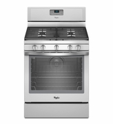 Whirlpool White Ice Gas Range Freestanding 5.8 Cu. Ft. with AquaLift Self-Cleaning Technology WFG540H0EH