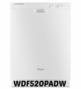 Whirlpool 55 dBA Dishwasher with AccuSense  Soil Sensor WDF520PADW ENERGY STAR White