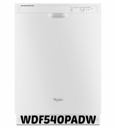 White Whirlpool Dishwasher WDF540PADW Dishwasher with Sensor Cycle 53 dBA
