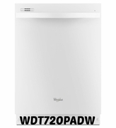 Whirlpool Gold Series White Built-In Dishwasher With Silverware Spray - WDT720PADW ENERGY STAR