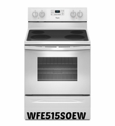 Whirlpool 5.3 Cu.Ft. Range with Easy Wipe Ceramic Glass Top WFE515S0EW AccuBake Temperature Management System