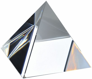 High Quality Clear Crystal Pyramid (S) 2.75 Inch