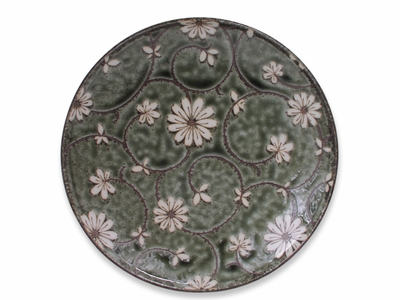 10 Inch Serene Meadow of Cosmos Japanese Plate (Last Three)